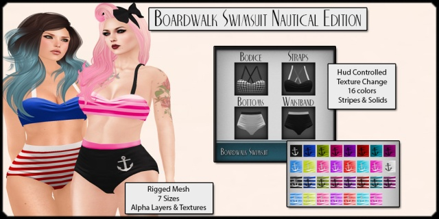 Has Been - Boardwalk Swimsuit Nautical Edition