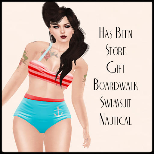 Has Been - Store Gift Boardwalk Swimsuit Nautical