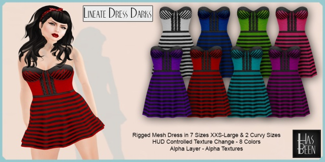 Has Been - Lineate Dress Darks