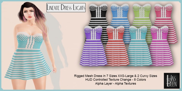 Has Been - Lineate Dress Lights